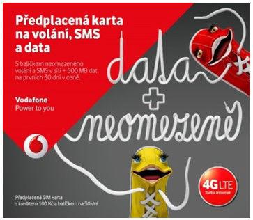 Vodafone SIM karta pro partu datuj