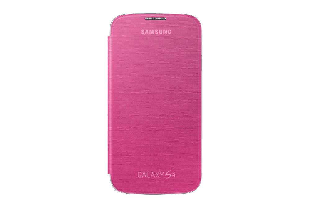 SAMSUNG flipové pouzdro EF-FI950BP pro Galaxy S4 (i9505) růžové