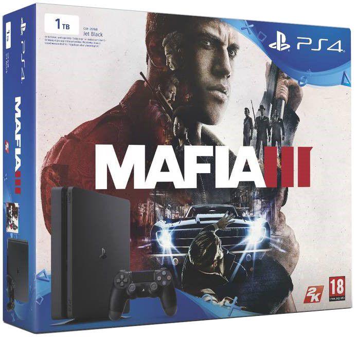 Sony PlayStation 4 1TB (černá) + Mafia 3