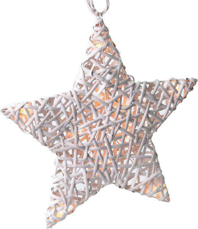 Solight 1V41 - Ratanová hvězda, 10xLED, časovač