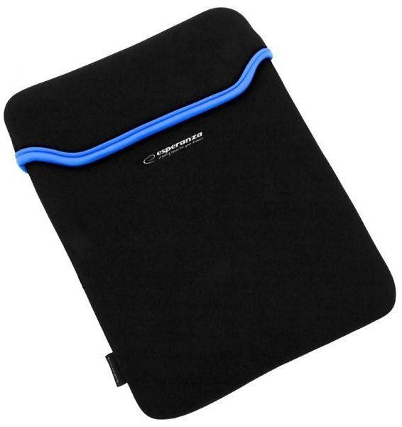 """Esperanza ET174b Neoprénové pouzdro na notebook 15.6"""" (černé) Esperanza ET174b - neoprénové pouzdro na notebook 15.6"""" (modrý lem)"""