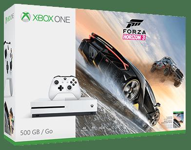 Microsoft Xbox One S 500 GB (bílá)+Forza Horizon 3 + dárek Xbox One S Wireless Controller BT (bílý) zdarma