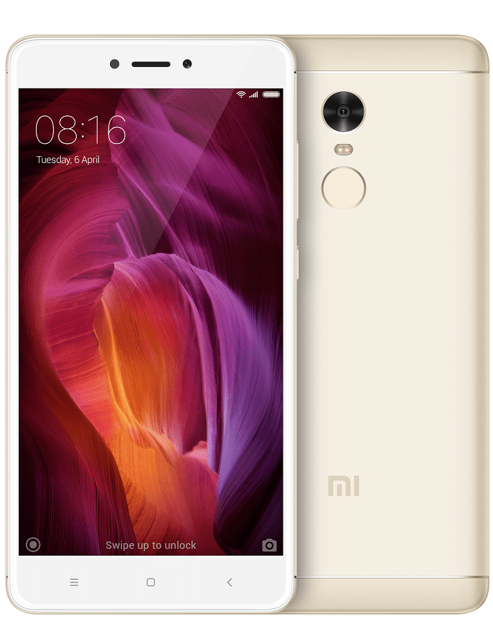 Xiaomi Redmi Note 4 zlatý