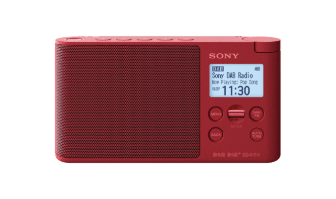 Sony XDR-S41DR červené