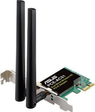 Asus PCE-AC51 Wireless-AC750 Dual-band PCI-E Adapte