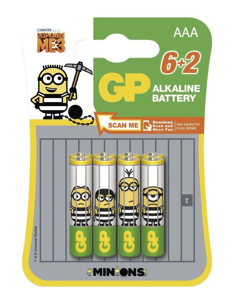 GP Minion AAA (LR03) 6+2ks