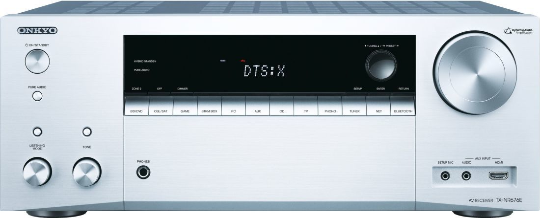 Onkyo TX-NR676E stříbrný