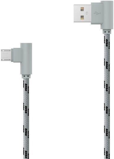 Mobilnet Micro USB kabel 2m, šedý
