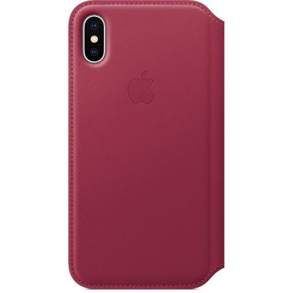 Apple Leather Folio pro iPhone X, růžová