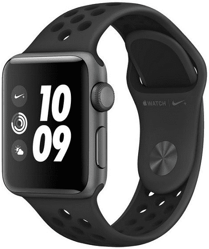 Apple Watch Series 3 Nike+ 38mm, vesmírně šedý hliník a antracitový/černý sportovní řemínek Nike