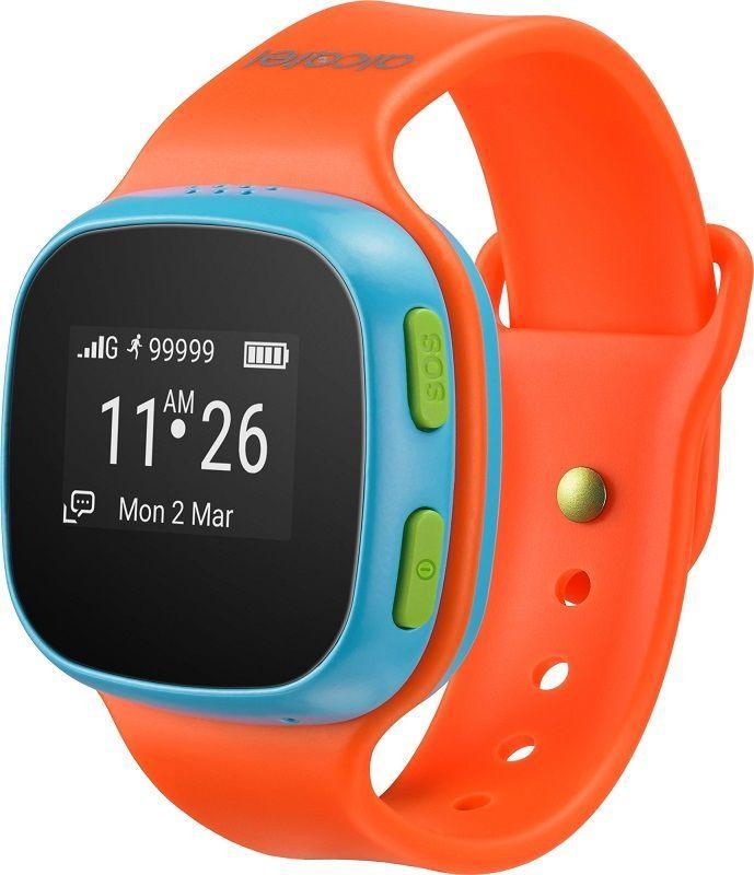 Alcatel MoveTime Track&Talk, oranžová/modrá + dárek Niceboy Fidget Spinner zdarma