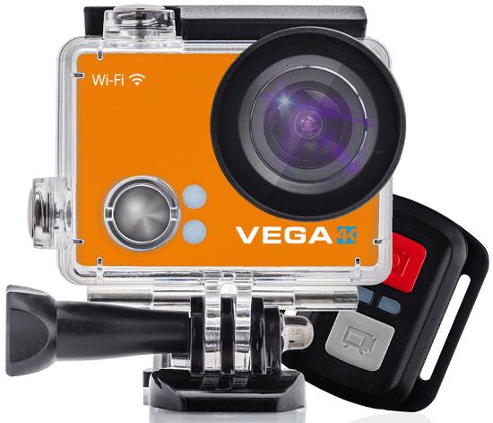Niceboy VEGA 4K + dálkový ovladač, oranžová