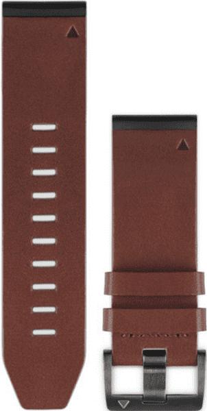 Garmin QuickFit 26mm kožený řemínek pro Fenix 3/5X, hnědá