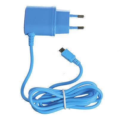 CELLY nabíjačka microUSB 1A modrá