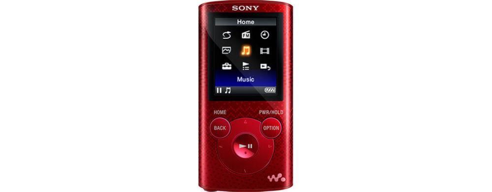 Sony NWZ-E384 MP3 + Sony ZX310 Sluchátka (červená)
