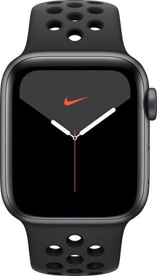 Apple Watch Series 5 Nike+ 44mm černý hliník s antracitovým/černým sportovním náramkem