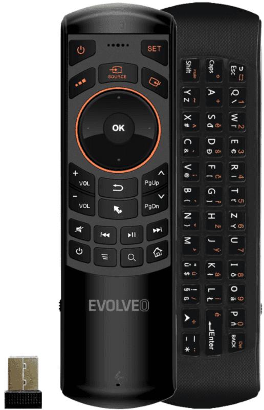 Evolveo FlyMotion D2 Pro černý dálkový ovladač s klávesnicí