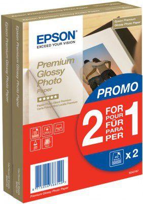 EPSON S042167 PREMIUM GLOSSY PHOTO PAPER, 10x15cm, 1+1 (80 listů), 255g