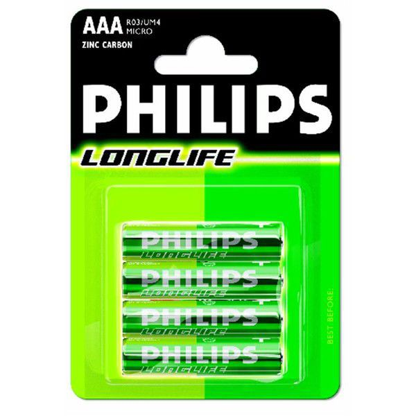 Philips LongLife - AAA (R03), 4ks