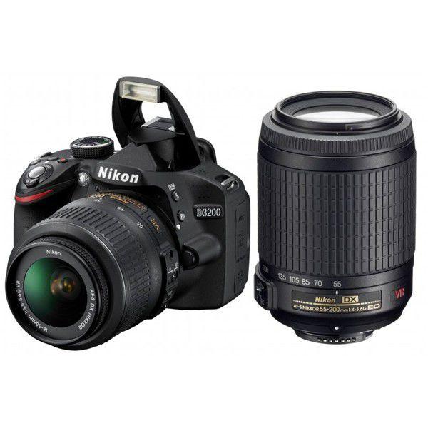 Nikon D3200 + 18-55 AF-S DX VR + 55-200 AF-S VR