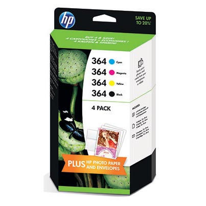 HP J3M82AE No.364 black + No.346 color - inkoust