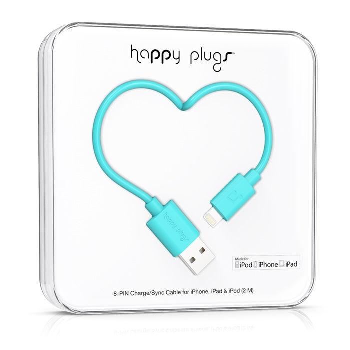 Happy Plugs 9906 - Lightning kabel (tyrkysový)