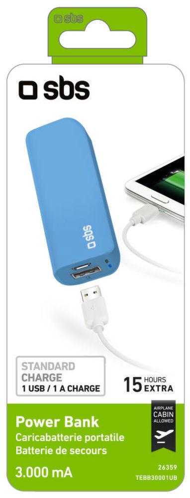 SBS TEBB30001UB (modrá) - powerbanka