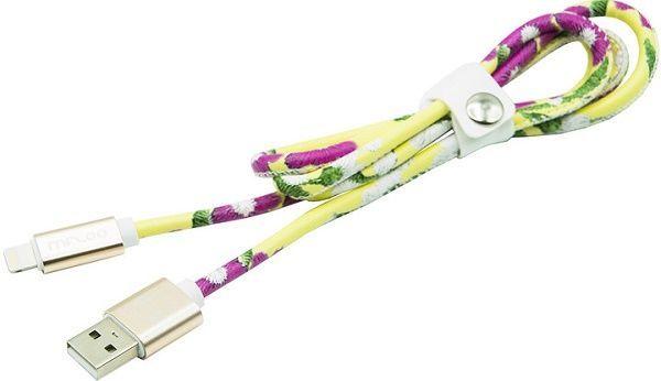 Mizoo X28-03i lightning- USB kabel, žlutá