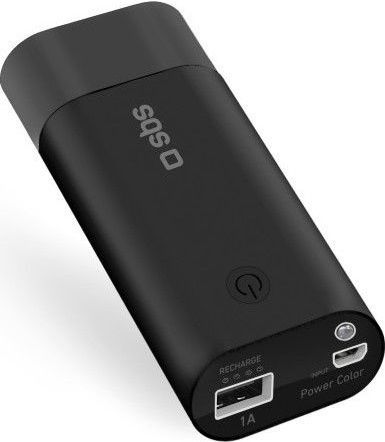 SBS powerbanka 5000 mAh s baterkou, černá