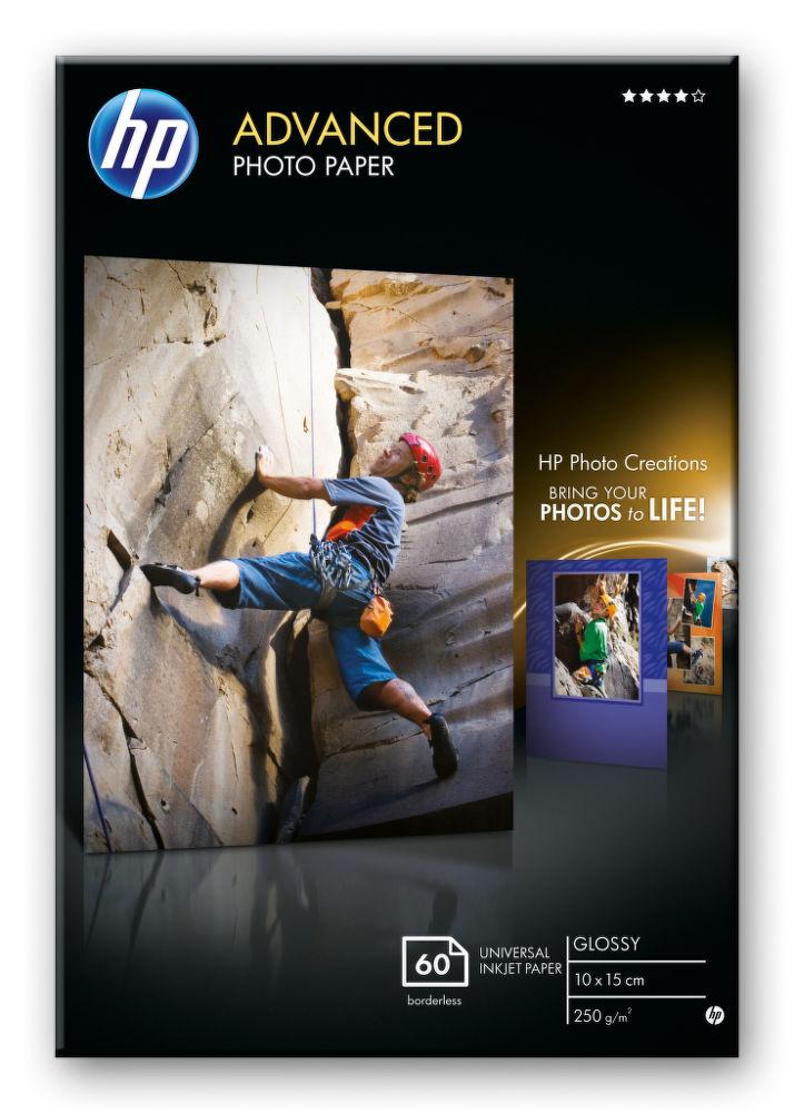 HP Advanced fotopapír lesklý 10 x 15 cm - 60 listů