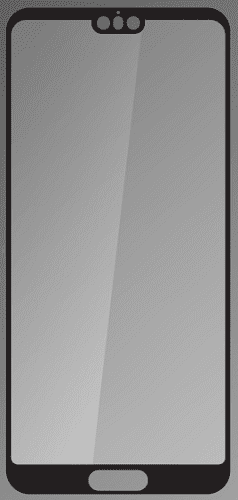 Q sklo tvrzené sklo pro Huawei P20, černé