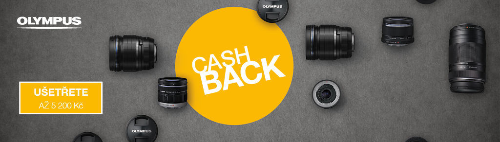 Cashback až 5 200 Kč na produkty Olympus