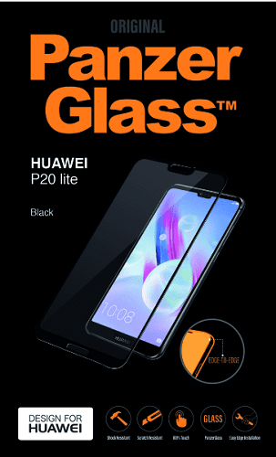 PanzerGlass tvrzené sklo pro Huawei P20 Lite, černé