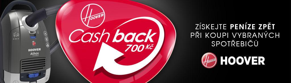 Cashback 700 Kč na vybrané vysavače Hoover