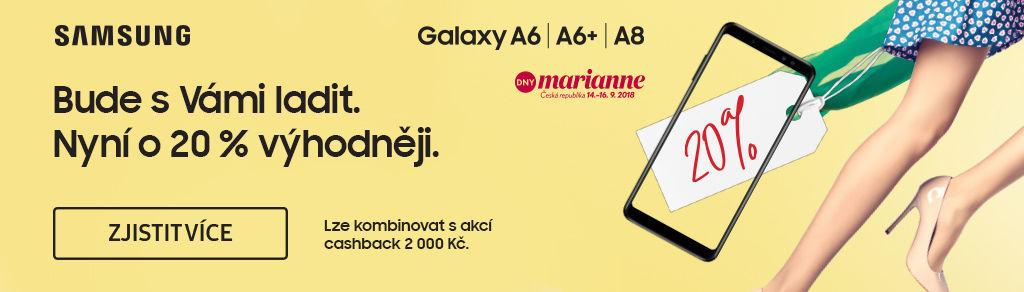 Sleva 20 % na Samsung Galaxy A6 / A6+ a A8