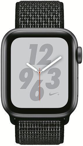 Apple Watch Series 4 Nike+ 40mm vesmírně šedý hliník/černý provlékací sportovní řemínek Nike
