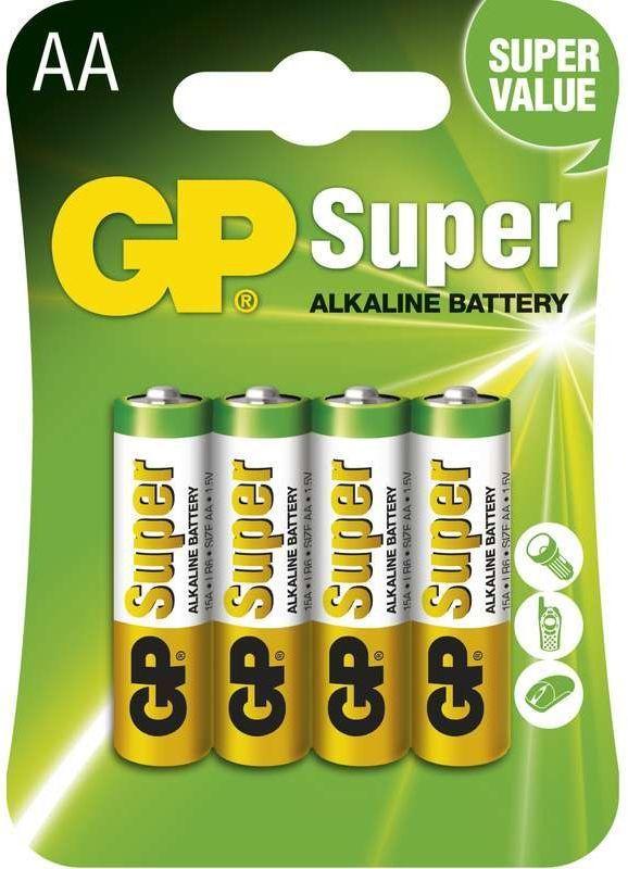 GP Super LR6 (AA), - 4ks v balení