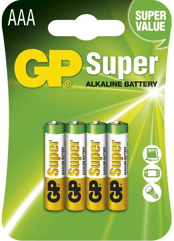 GP Super LR03 (AAA), 4 ks