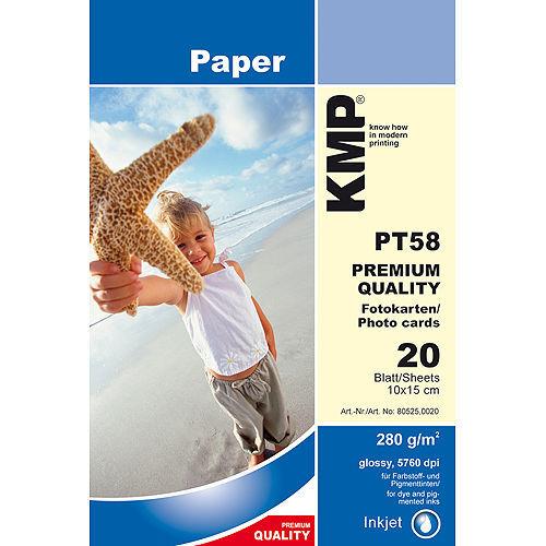 KMP PT 58 fotografický papír 20 listů