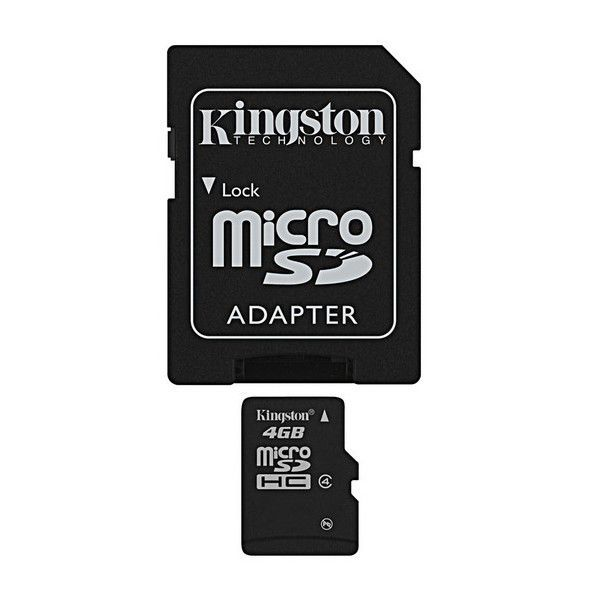 Kingston 4GB MIKRO SDHC Card Class 4 - paměťová karta