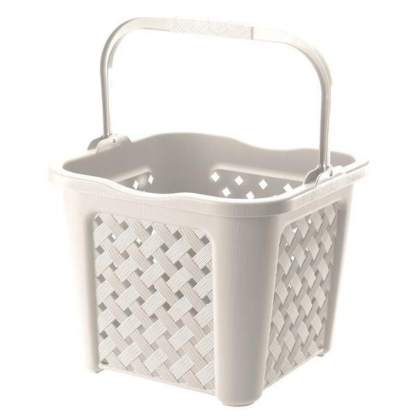 Tontarelli Arianna 25l (bílý) - koš na čisté prádlo