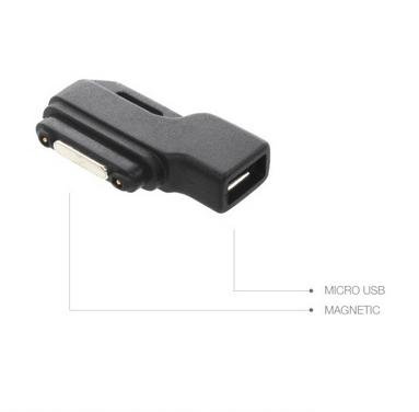 MobilNet redukce z MicroUSB na Magnetic (černá)