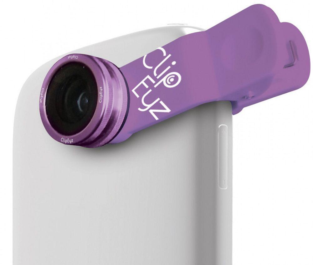 CLIPEYZ Purple Mini Fisheye objektiv pro smartphone