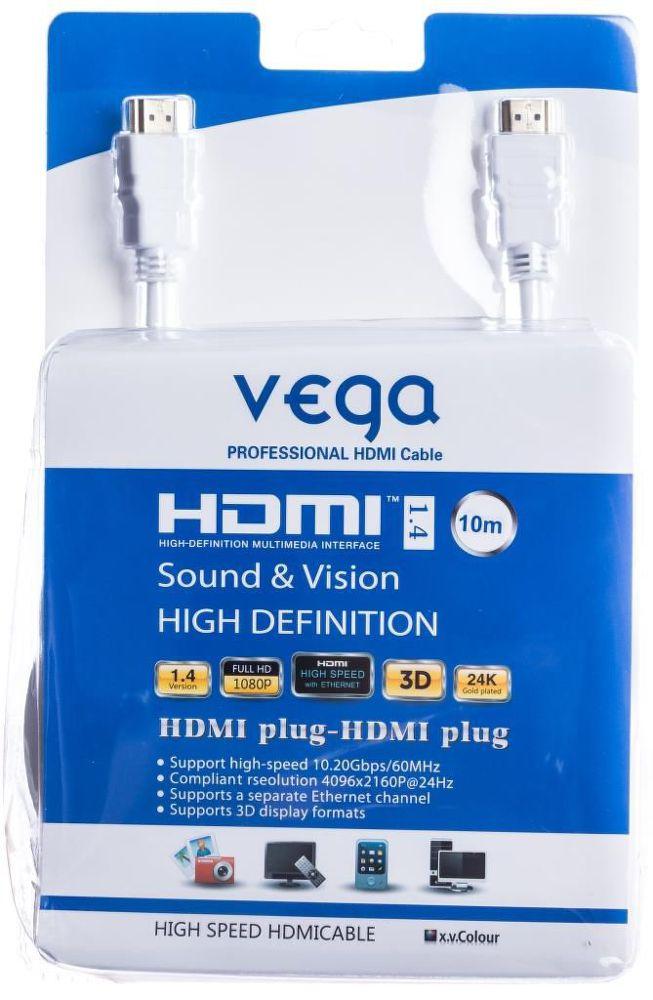 Vega AA-1071 HDMI kabel 10m (bílý)
