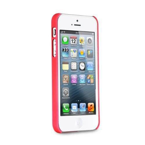 Puro Soft Cover + folie iPhone 5 (červený)