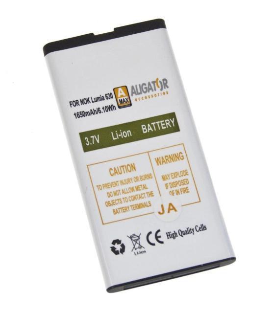 Aligator baterie pro Nokia Lumia 630 Li-ION 1650 mAh A MAX