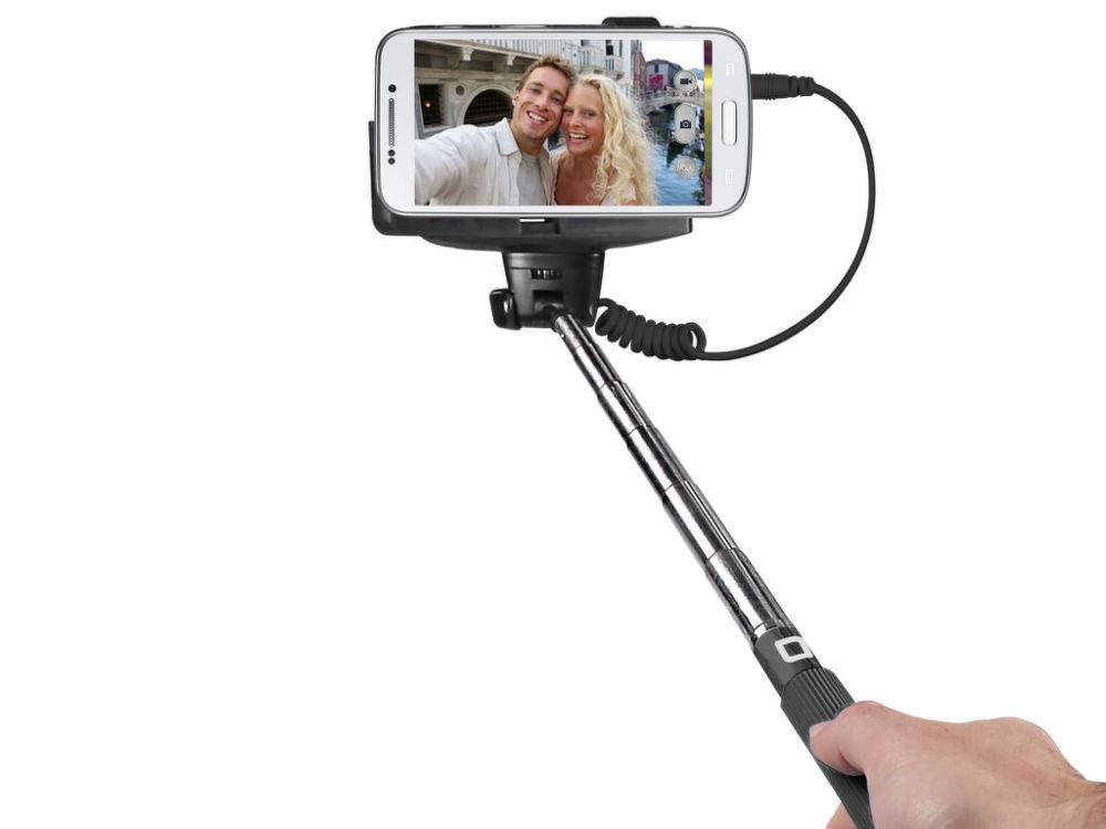 SBS Selfie tyčka - jack 3.5mm (černá)