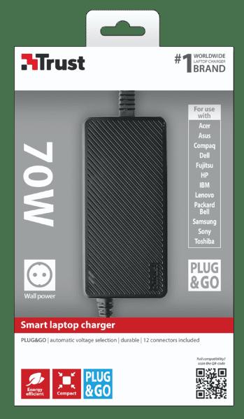 Trust 20193 70W Plug & Go Smart nabíječka pro notebooky