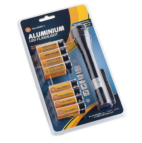 Gogen baterie Alkaline AA 16ks + svítilna