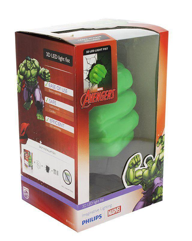 Philips 3D Hulkova pěst - světlo na zeď